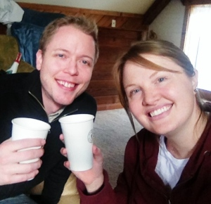 Our Prosecco and Chipotle carpet picnic in the loft