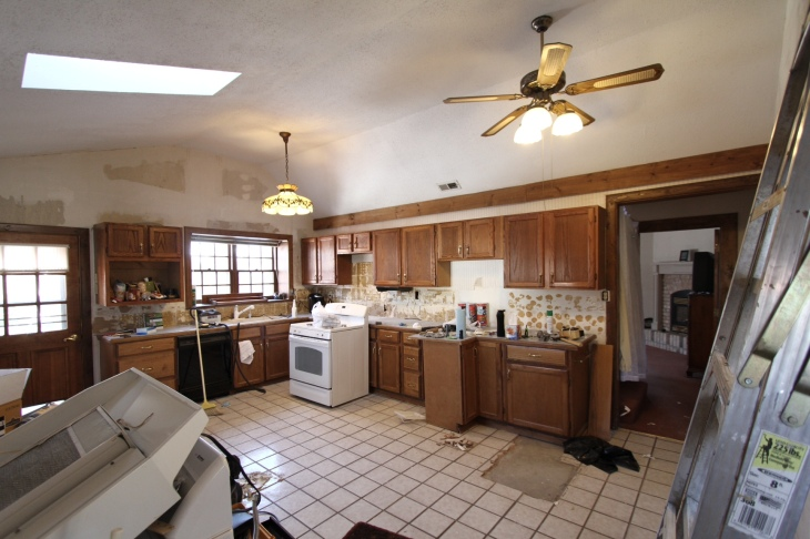 With Kitchen Cabinets