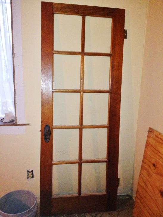Vintage door vs open floor plan lucky girl brake for Living room 4 doors