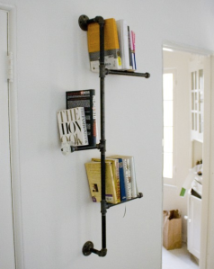 Add some wood planks on a few of the horizontals and it makes a mean shelf unit.
